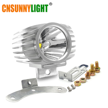 CNSUNNYLIGHT LED Car External Headlight 15W 10W White High Low Motorcycle DRL Headlamp Spotlight Drive Fog