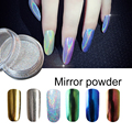 Saroline glitter Nail Salon holographic powder Mirror Powder 6 Color For nail gel coat Shinging Nail Mirror Powder Shining Nail