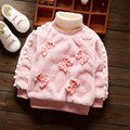 High Quality Baby Jackets Coat Winter Spring Cotton Long sleeve Infant Outerwear Dot pearl Bow Hooded Baby Girl Jacket SKB47