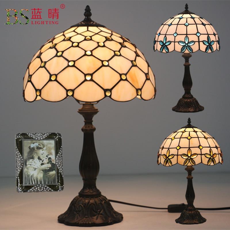 Здесь можно купить  Turkish Mosaic Lamps E27 Base Handmade Glass Lampsahde Bedroom Bedside Vintage Table Lamp Light Fixtures  Свет и освещение