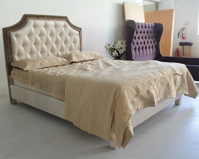 Cabeceros tapizados camas muebles populares en el mercado de China