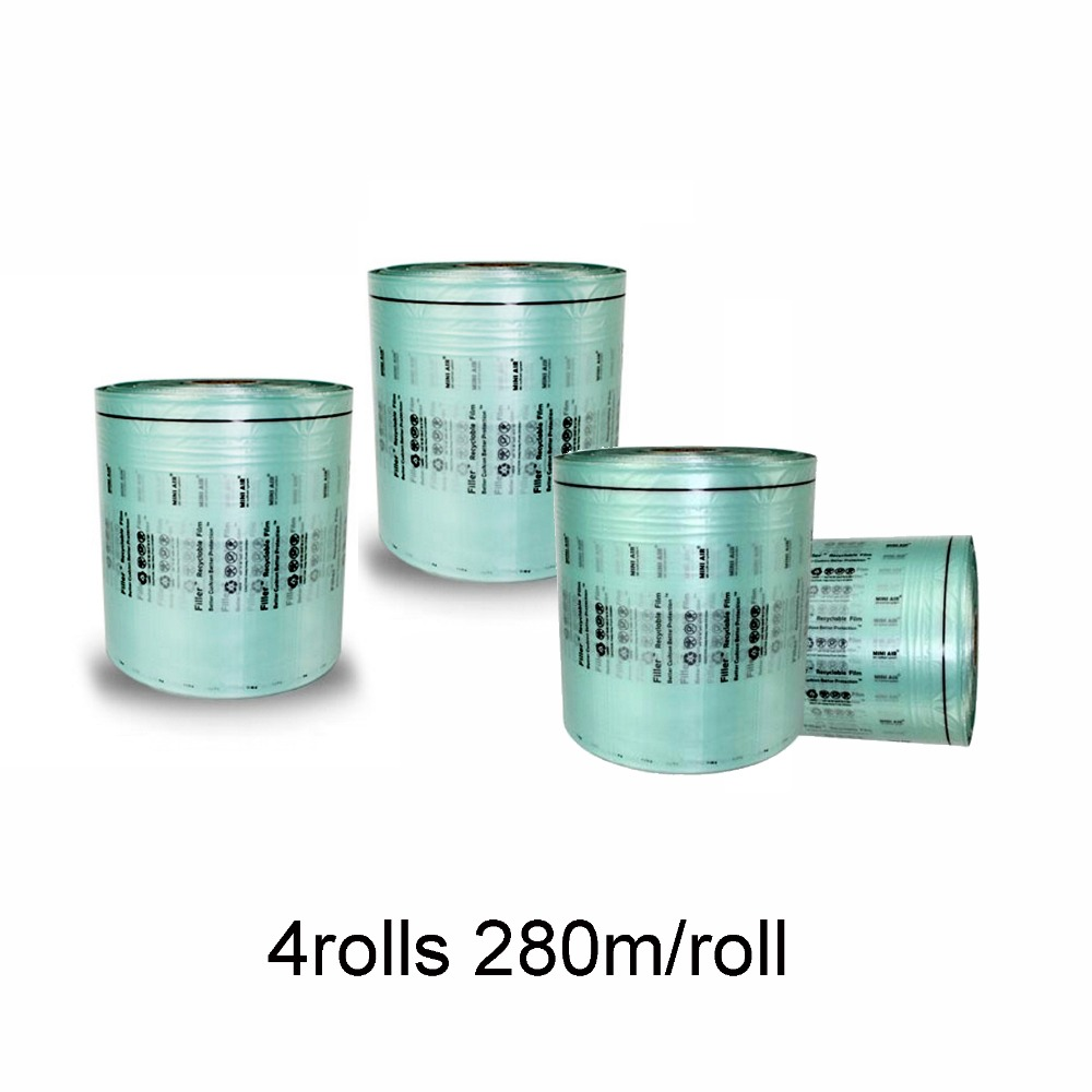 4Rolls Air Cushion Filller Film 280M/roll 200*100mm*17UM High Density PE Material Meet ROHS Air Pillows Air Dunnage Packing Film