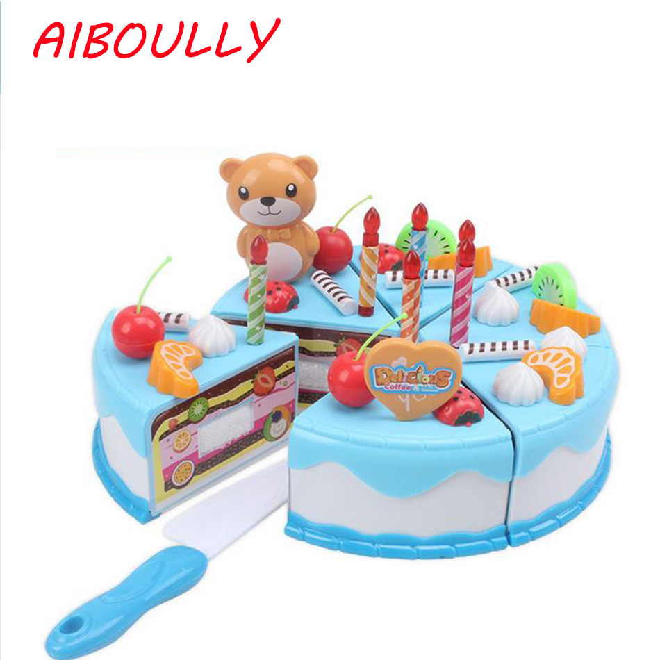 Astonishing Food Pretend Play Mini Wooden Magnetic Birthday Cake Toy Kid Girl Birthday Cards Printable Benkemecafe Filternl