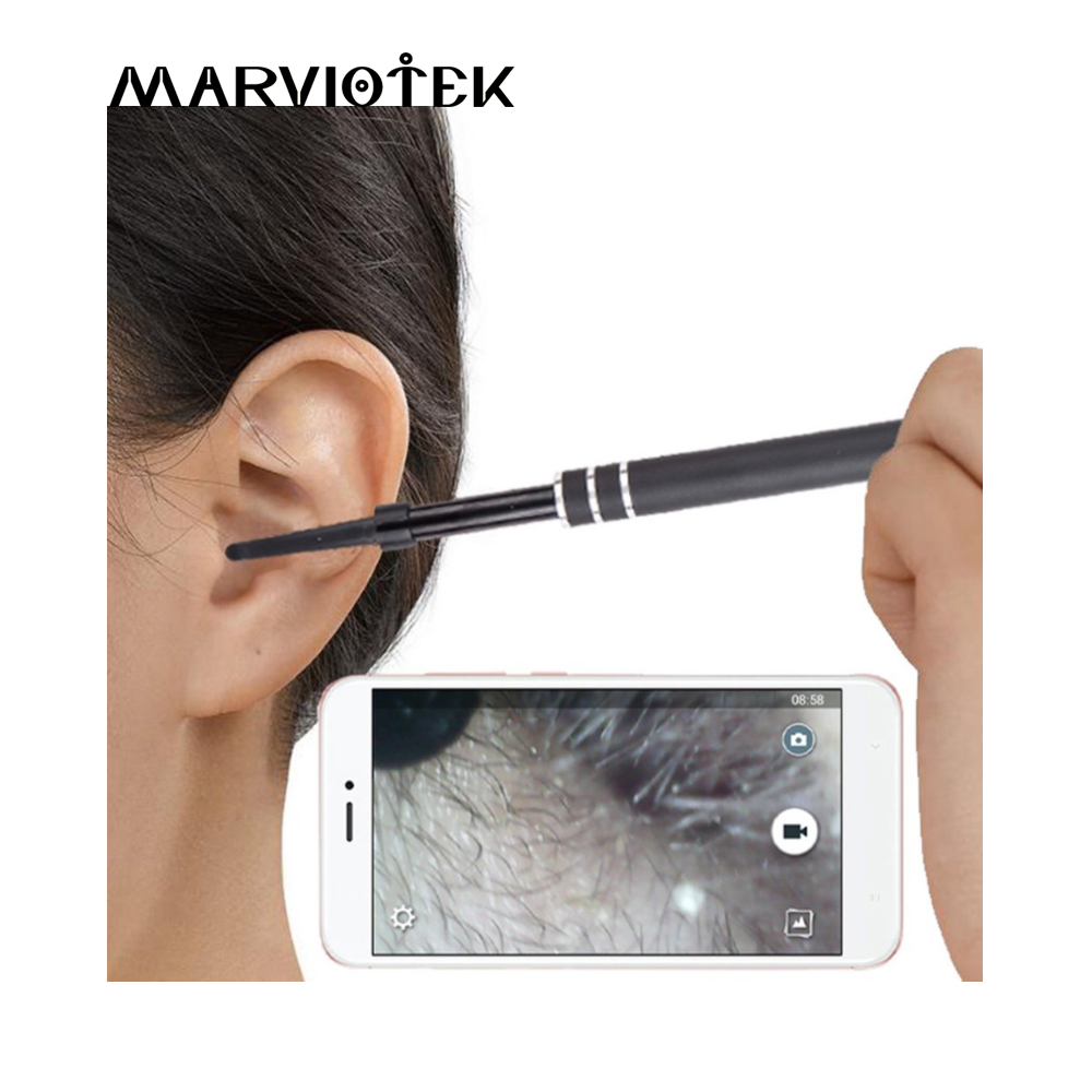 Mini Camera 2-in-1 USB Ear Cleaning Endoscope Ear Health Care Cleaning Tool For Android PC Ear Spoon Otoscope Borescope Tool