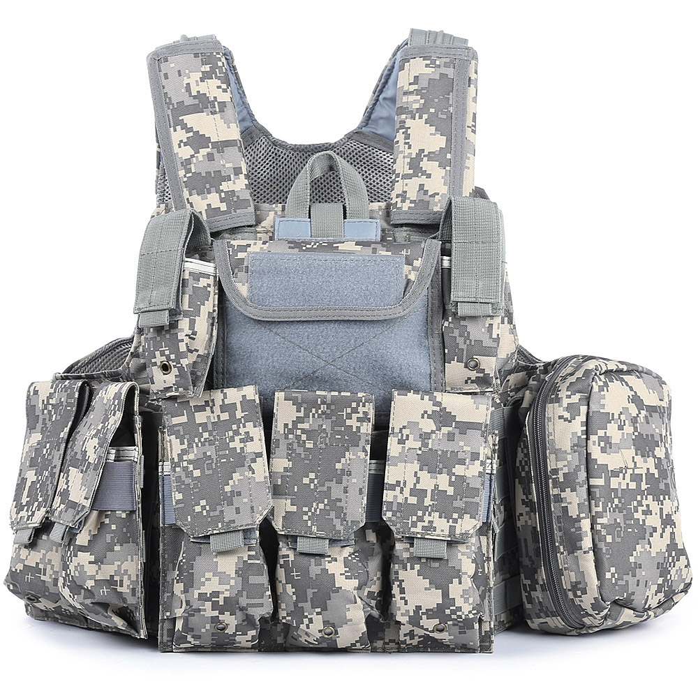 Outlife Phantom tactique militaire grève Combat Airsoft Molle balle assaut plaque transporteur gilet léger confortable - 3