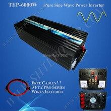 6000W Micro Solar Power Inverter, 48V 240V Pure Sine Wave Inverter 6kw