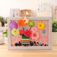 Button flower DIY children's Handmade material package, kindergarten gift birthday gift, practical reative Toys  Room Decoration