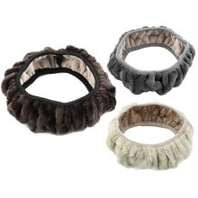 New Arrival Winter Steering Wheel Cover Artificial Wool Heated Steering Wheel Cover Winter Plush Steering Wheel Cover(China)