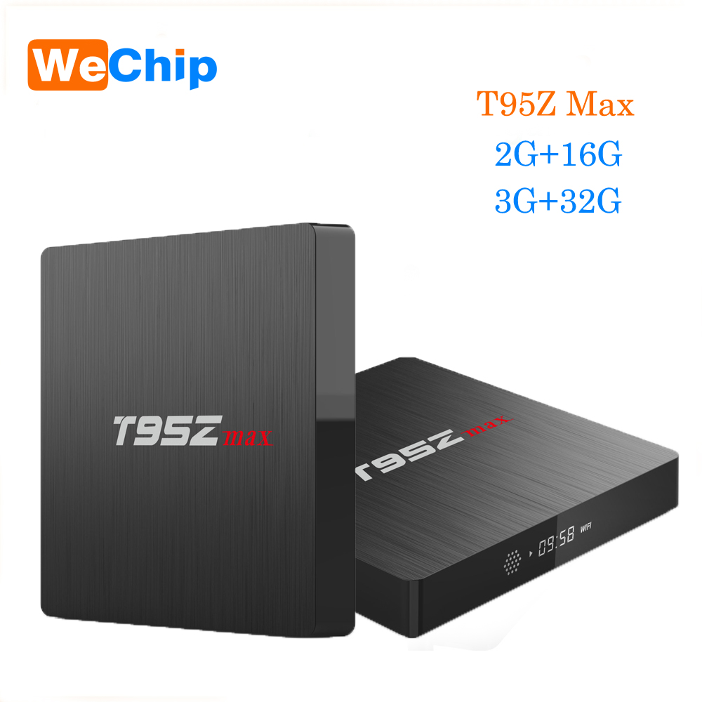 T95Z Max Smart Android 7.1 TV Box 2GB+16GB 3GB+32GB Octa Core S912 Dual Band 2.4G+5G WIFI 4K Ott Box Support IPTV Media Player