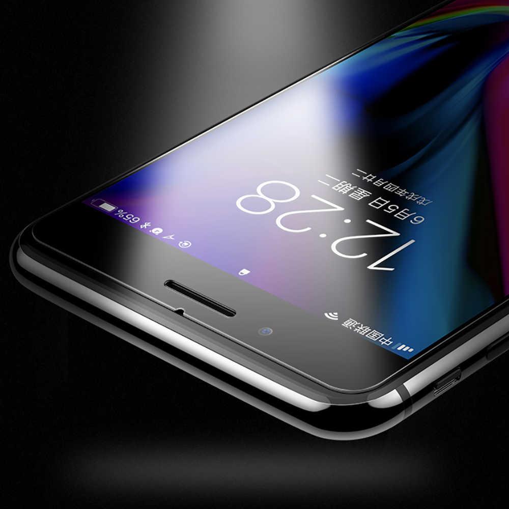 رقيقة جدا 7 المقسى زجاج واقي على ل فون 6 6S XR 5S SE 4 واقي للشاشة فيلم ل فون 8 7 زائد XR XS ماكس X