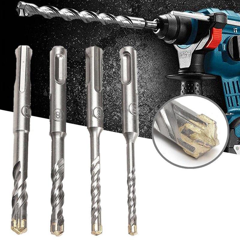 110mm 5/6/8/10 mm SDS Plus Masonry Crosshead Twin spiral Hammer Drill Bits ...