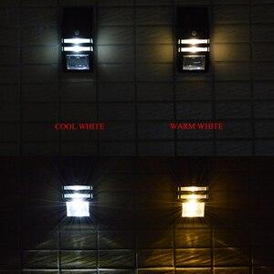 Image 4 - Lampe dextérieur avec détecteur de mouvement PIR, imperméable, éclairage dextérieur, applique de sécurité, économie dénergie, idéal pour un jardin, une rue ou une cour, 4 unités