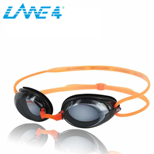 LANE4 Optical Swim Goggle Hydrodynamic Profile Frame Silicone Seals Anti-fog UV Protection for Adults ORANGE #2195