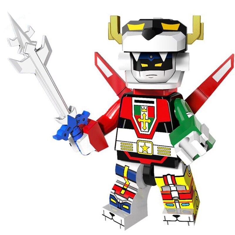 Super Heroes MINI Defender Of The Universe Voltroned Building Blocks Sets Kits Bricks Movie Model Kids Toy Marvel Compatible
