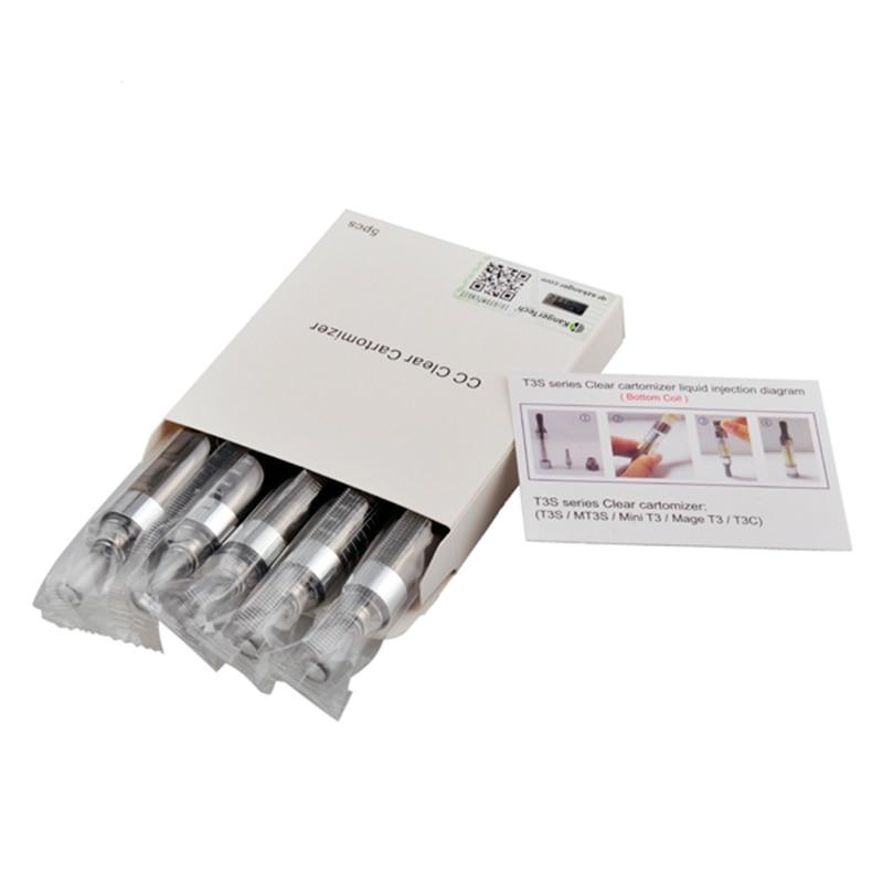 5 pz Kanger T3S Atomizzatore 3 ml Serbatoio Fit EGO EVOD E Cig CE4 Compatibile con Tutti Ego T Batteria 510 Inferiore Coil Riscaldamento atomizzatore