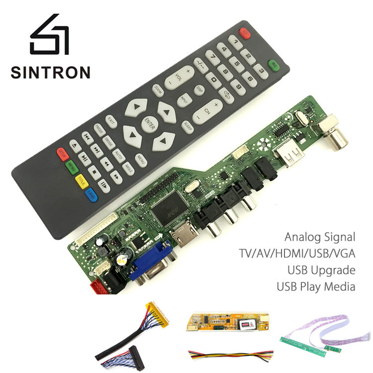 [Sintron] HDMI VGA Audio Universal LCD TV Monitor Screen Controller Driver Board PC/VGA/HDMI/USB Interface DIY Kit Programable 8 4inch 8 4 non touch industrial control lcd monitor vga interface white open frame metal shell tft type 4 3 800 600