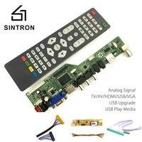 [Sintron] HDMI VGA Audio Universal LCD TV Monitor Screen Controller Driver Board PC/VGA/HDMI/USB Interface DIY Kit Programable