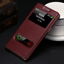 ФОТО high quality hot flip ultrathin view window leather case for samsung galaxy a3 a3000 case luxury phone cover