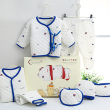 7PCS/set Gifts Package Newborn Baby Romper Fashion Infant Bebe Suit Clothes Baby Boy/Girl Jumpsuit 100% Cotton Toddler Rompers цена 2017