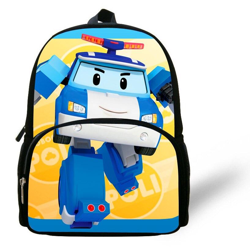 12 Inch Kinder Nette Karikaturdruck Tasche Roboter Rucksack Für Kinder Jungen Mädchen Starker Widerstand Gegen Hitze Und Starkes Tragen