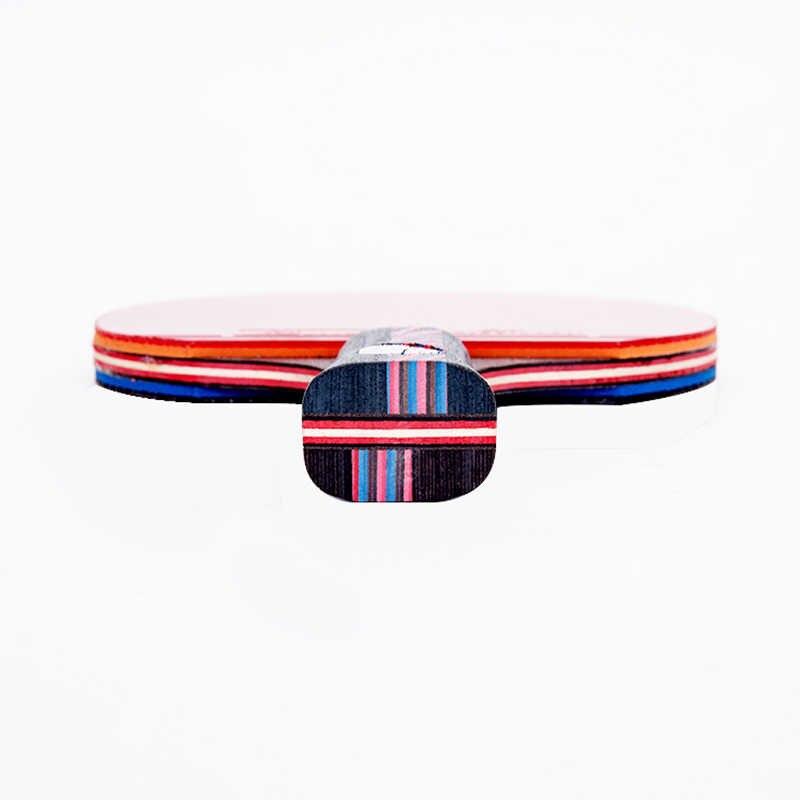 Carbon fiber table tennis racket 7 layers long handle short handle  horizontal grip tennis table paddle blade rubber