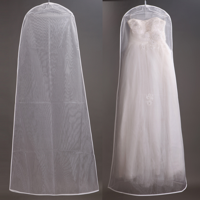 160cm Soft Tulle Wedding Dress Bags Clothes Cover Dust Cover ...