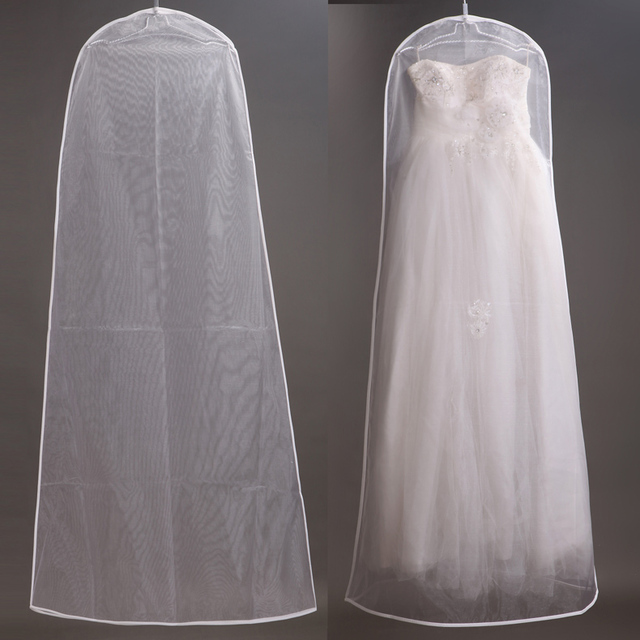 160cm Soft Tulle Wedding Dress Bags Clothes Cover Dust Garment Bridal Gown Bag For