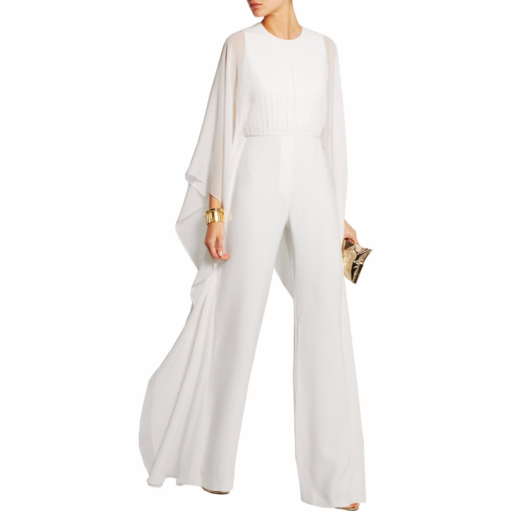 Elegant white jumpsuits breeze clothing - Jumpsuit hochzeit ...