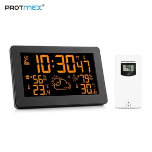 Image 1 - Protmex PT3378A Weather Station, Wireless Indoor Outdoor Thermometer Hygrometer Digital Alarm Clock Barometer Forecast