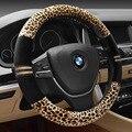 2017 nuevo leopard omp volante cubierta de felpa corta en el volante del coche 38 cm antideslizante stuurhoes