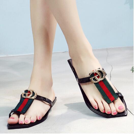37d34af7b9475 Summer New Bohemia Satin Slope Heel Beach Female Flip Flops Women Slippers  2018 Fashion Flats Sandals ladies Boho Beach Slides-in Flip Flops from Shoes  on ...