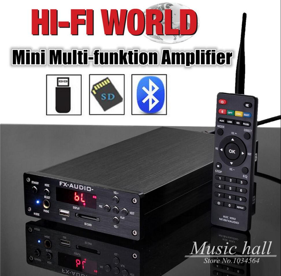 Music hall HiFi Digital Integrated Amplifier Bluetooth/AUX/U-disk/SD Card/Headphone/PC USB