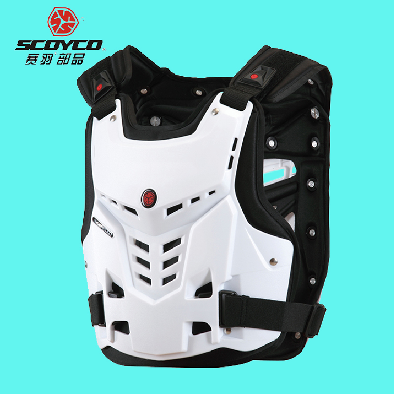 Genuine SCOYCO AM05 Motorcycle Armor Motocross Chest Back Protector Armour Vest Racing Protective Body Guard ATV