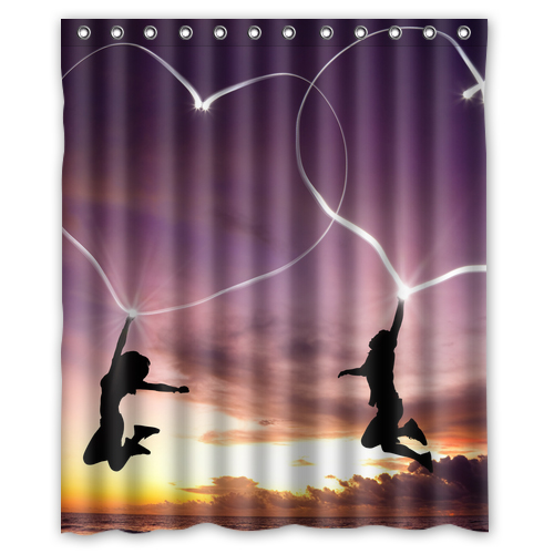 Valentines Day Lover Hearts Customized Design Curtain Sale Fabric Bathroom  Waterproof Shower Curtains 48x72, 60x72 - Popular Valentine Shower Curtains-Buy Cheap Valentine Shower