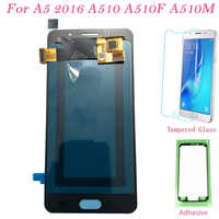 Test LCD Screen AMOLED For Samsung Galaxy A510 Touch Screen Digitizer LCD Display For Samsung A5 2016 A510F A510M Assembly