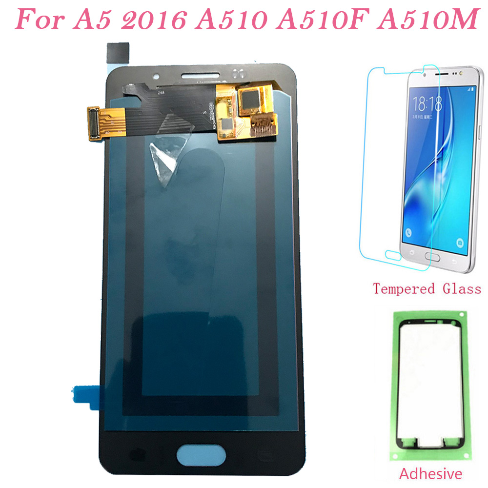 Test LCD Screen AMOLED For <font><b>Samsung</b></font> Galaxy A510 Touch Screen Digitizer LCD <font><b>Display</b></font> For <font><b>Samsung</b></font> A5 2016 <font><b>A510F</b></font> A510M Assembly image