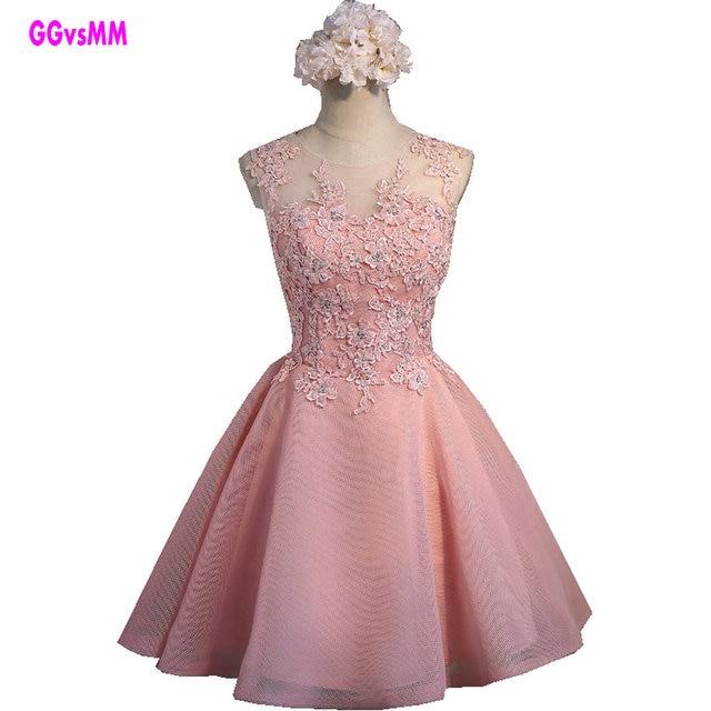 Envío rápido Rosa Encaje Vestidos de baile 2018 vestido de fiesta ...
