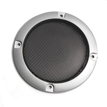 Rede protetora de alto falante, substituição de prata de alta qualidade, malha redonda, capa para grade do alto falante, 2/3 polegadas, 1 par acessórios