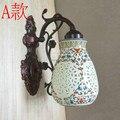 Estilo chinês cerâmica lâmpada de parede do vintage ofhead lâmpadas de parede luzes de parede Sala de estar Sala de Jantar Casa de Banho de cerâmica