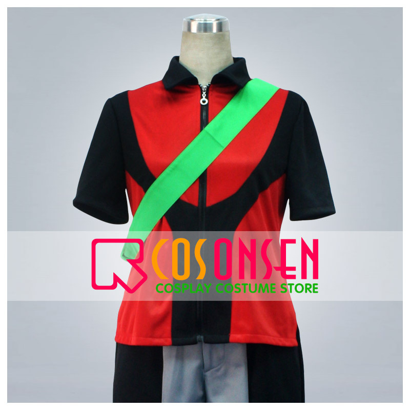 COSPLAYONSEN Pokemon Emerald Yuuki Cosplay Costume Full Set All Size Custom Made image