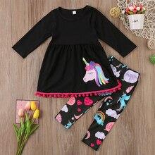 Unicorn Flower Top Legging Set