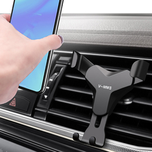 Universal Gravity Car Holder Air Vent Mount Stand Mobile Phone Support For iphone Xiaomi mi9 Smartphone Gravity Auto Clip In Car usams cd47 creative 2 in 1 wireless charging gravity car air vent mount for smartphone