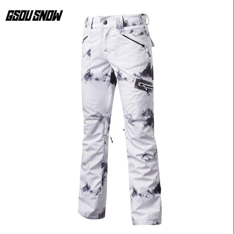 Pantalon de Ski femme GSOU SNOW Brand pantalon de Snowboard imperméable hiver Ski de plein air Snowboard pantalon de Sport femme vêtements de neige