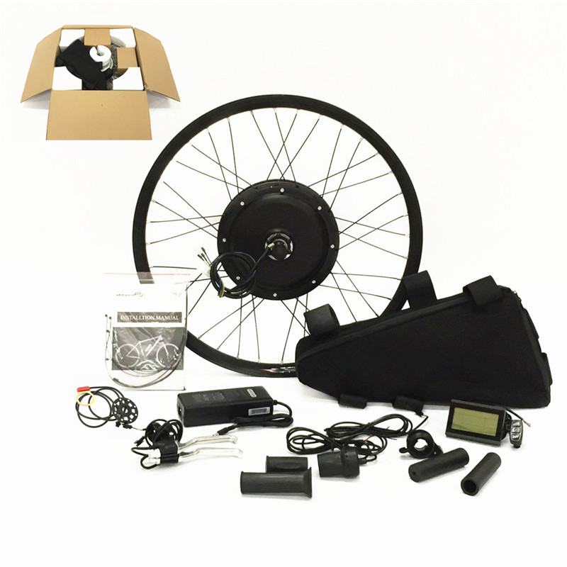 """Electric Bicycle Motor Kit With Battery In India: 26"""" 48v 1000w Electric Bike Conversion Kit With 48v 11ah"""