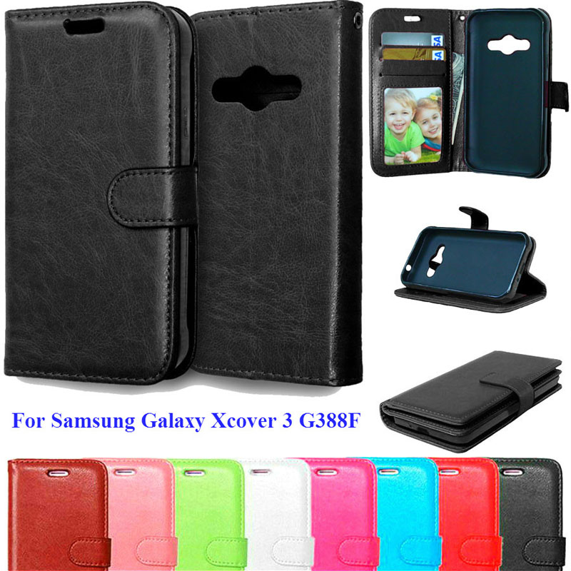 Case For Samsung galaxy xcover 3 SM-G388F G388F Phone Cases With Credit Card Holder Stand Flip Wallet Case For Samsung xcover 3