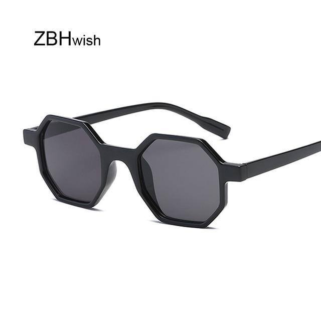40b3b0577 New Fashion Octagon Shaped Square Sunglasses Women Men Brand Designer  Eyewear Sun Glasses Mirror Black Sunglass