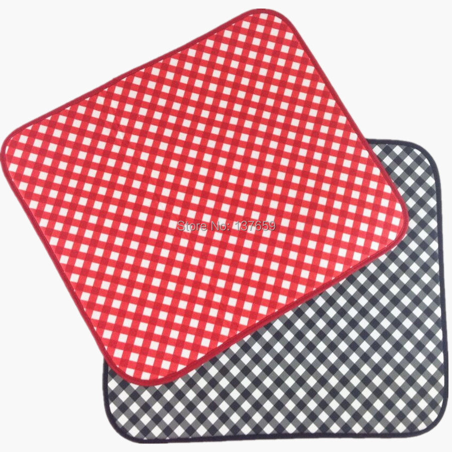 40cmx46cm Dish Drying Mat For Kitchen Microfiber Cushion Pad red and ...