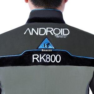 Image 5 - ROLECOS משחק דטרויט הפך אדם קוספליי תלבושות קונור RK800 חליפת אחיד מעיל חולצה עניבה לגברים מסיבת קוספליי בגדים