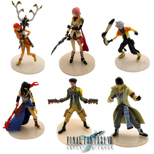 6 x final fantasy xii vaan fran bathier cloud pvc figure set in