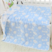 100% Muslin Cotton Baby Swaddle Multi-use Blankets Newborn Infant Gauze Bedding Blanket Quilt 120*150cm